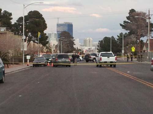 Police close down the area around the shooting. (Matt DeLucia/FOX5)