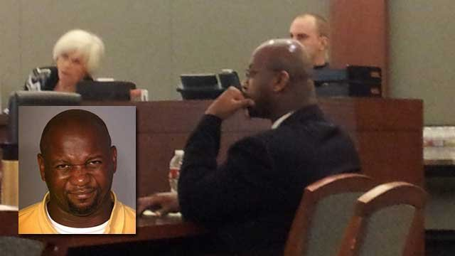 Hawkins sits in court during a preliminary hearing. (FOX5 FILE)