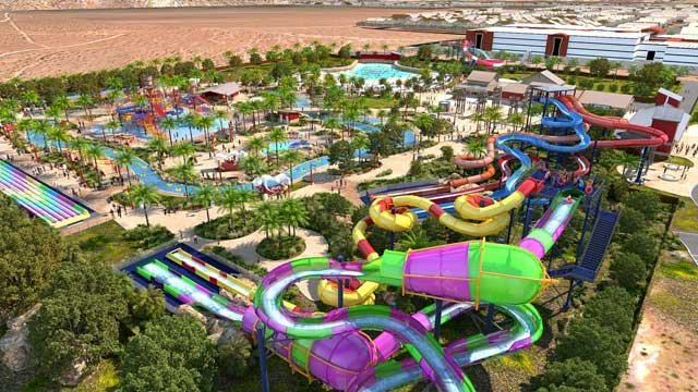 An artist rendering of the Wet 'N' Wild Las Vegas water park in full completion. (Image provided by Wet 'N' Wild Las Vegas)