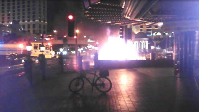 Video recorded shortly after a multi-vehicle wreck on the Las Vegas Strip. (from viewer-submitted video)