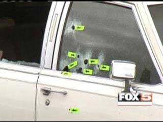 Bullet holes were left in Stanley Gibson's car following his death.