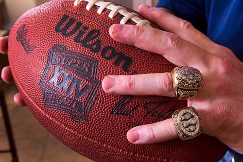 Mike Cofer's Super Bowl ring. (Courtesy: Las Vegas Sun)