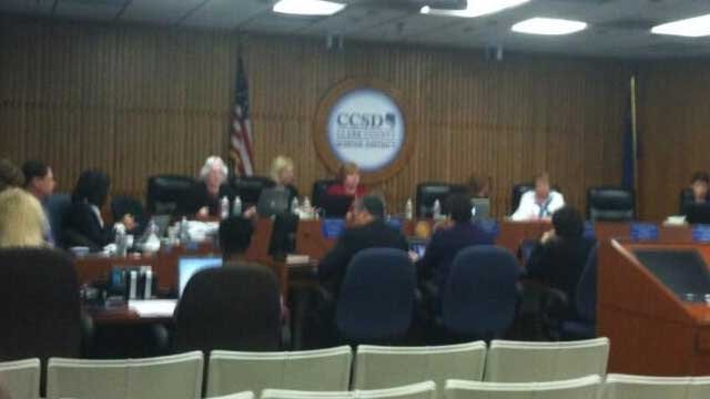 CCSD Board members met to work out particulars of its superintendent search. (Azenith Smith/FOX5)