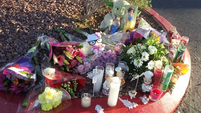 A memorial was made in dedication to Alexis Monasterio. (Peter Dawson/FOX5)