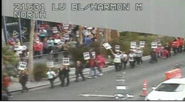 Street camera view of the protest.