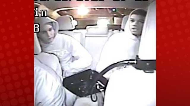 Police said two teen suspects attempted to rob a taxi cab driver on Feb. 16, 2013. (LVMPD)
