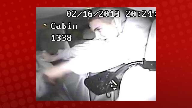 One of the suspects was recorded on the taxi cab's surveillance camera. (LVMPD)