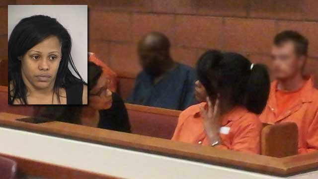 Laketha Moore appeared in a North Las Vegas court room on March 22, 2013. (Eric Youngman/FOX5)