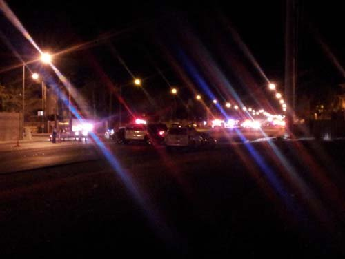 The scene of the shooting near Buffalo and Russell. (Matt DeLucia/FOX5)