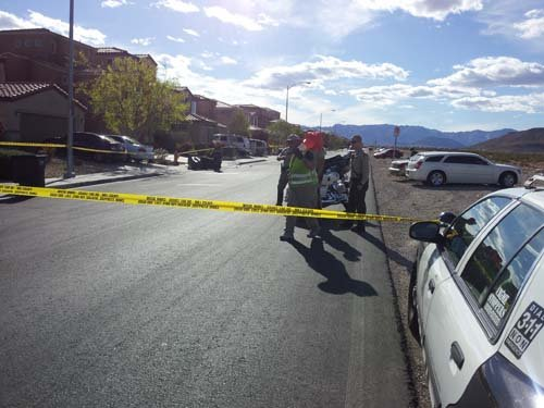 A child was pulled under a vehicle near Durango and Blue Diamond on Tuesday afternoon. (Joe Lybarger/FOX5)