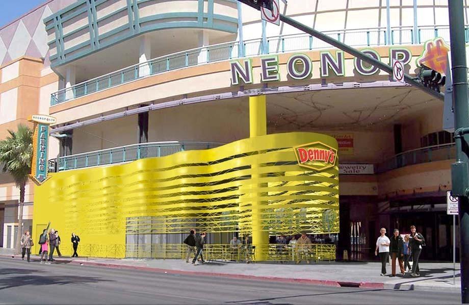 The Neonopolis Denny's location, shown in an artist's rendering. (Erwin Penland)