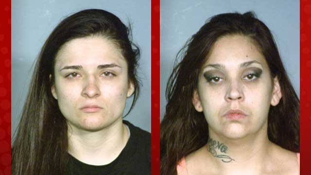 Ashley Garcia, left, and Melissa Heath, right. (LVMPD)