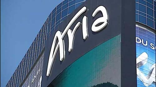 The new marquee for Aria stands 260 feet and boasts 11 million pixels. (Joe Lybarger/FOX5)