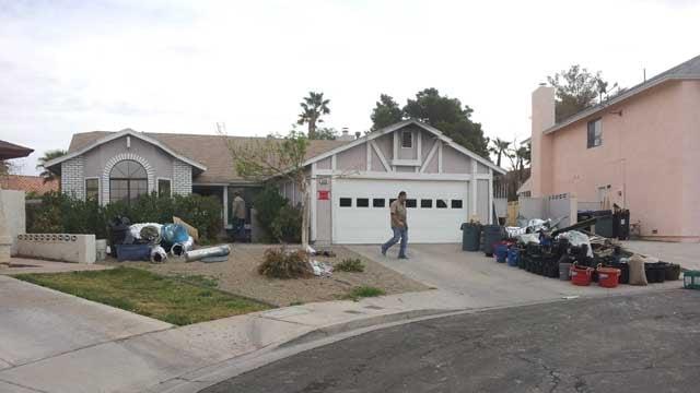 Henderson police confirmed a marijuana grow house raid on the area of Racetrack and Warm Springs roads. (Armando Navarro/FOX5)