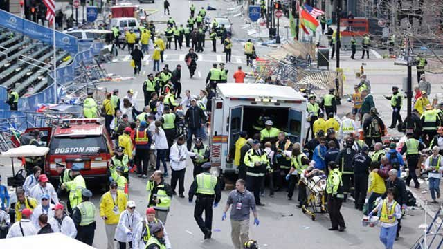 A total of 85 participants registered being from Nevada in Monday's Boston Marathon. (AP Photo/Charles Krupa)