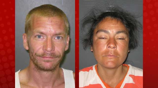 Peter Helfirch, left, and Sylvia Castillo, right, face charges connected to the January slaying and dumping of Salvador Zuno-Gama. (Nye County Sheriff's office)