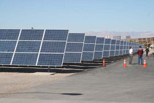 The solar panels will power the Water Pollution Control Facility. (Courtesy: City of Las Vegas)