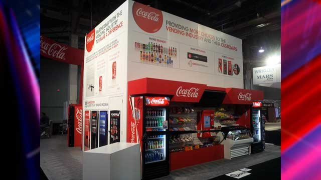 The latest vending systems and products you'll find inside are on display at the Sands Convention Expo through Friday. (Dave Lawrence/FOX5)