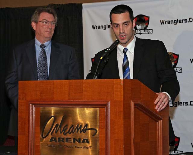 Madill at a press conference on Friday announcing his appointment as head coach and general manager. (IIA Photography)