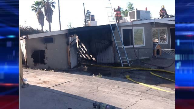 A child was found dead in a house that caught fire near downtown Las Vegas on Thursday. (Las Vegas Fire & Rescue)