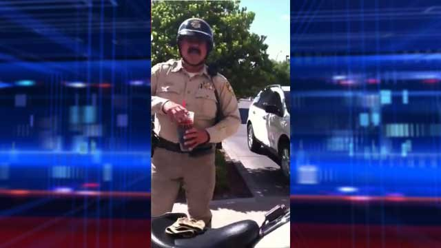 Video of Vegas boy grilling cop goes viral