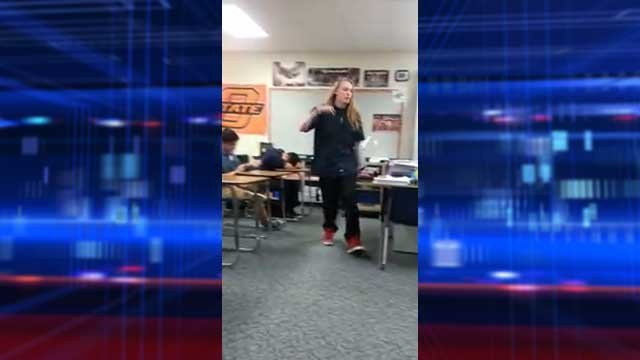 Jeff Bliss was identified as the teen heard ripping into his teacher in a YouTube video. (Image capture from YouTube)