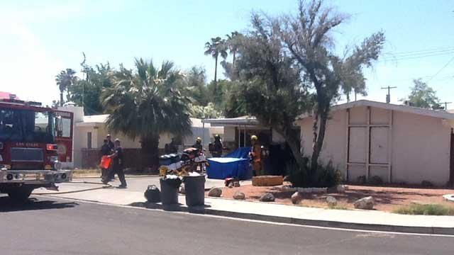 There was no one inside a home that caught fire on May 14, 2013. (Las Vegas Fire & Rescue)
