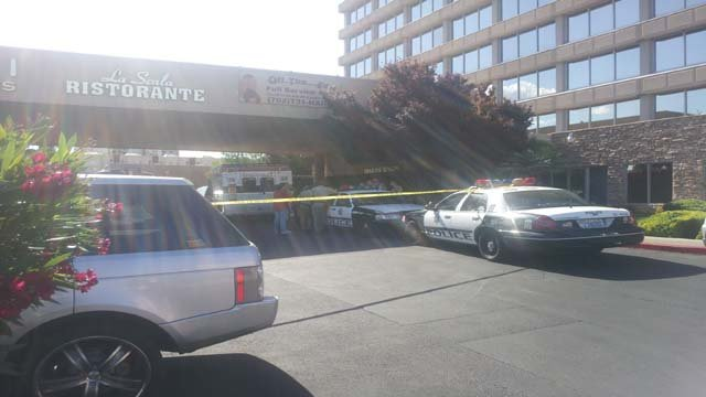 Metro police investigate the discovery of two bodies at the Mark 1 apartments. (Doug Johnson/FOX5)
