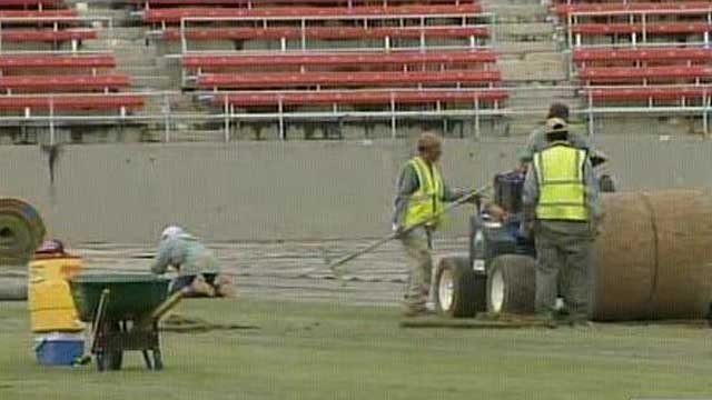 Turf was replaced just before last August's matchup between Real Madrid and Santos Laguna. (FILE/FOX5)