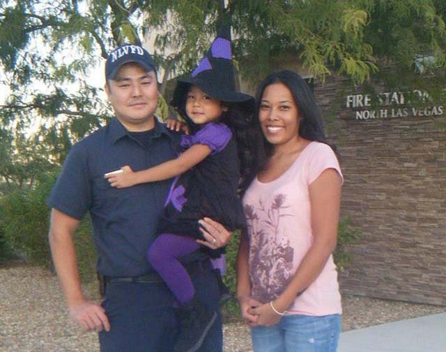 Dean Tajima with his family. (Clark County Fire Department)