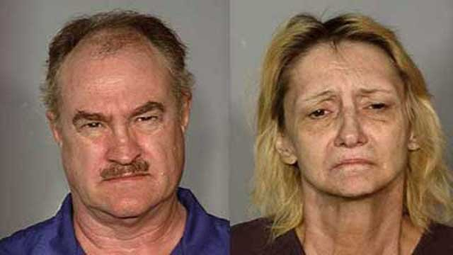 Christopher Ross, left, and wife Georgene Ross, right. (LVMPD)