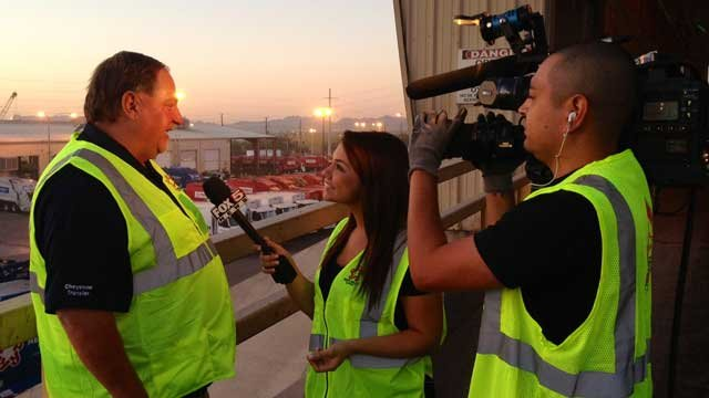 Workers at Republic Services were interviewed live on FOX5 on National Garbage Man's Day.