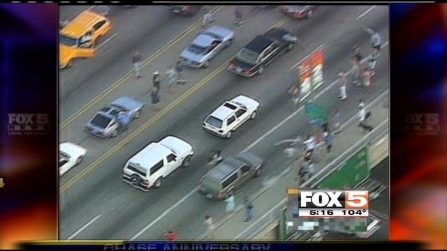 The infamous O.J. Simpson police chase on June 17, 1994. (FOX5 file)