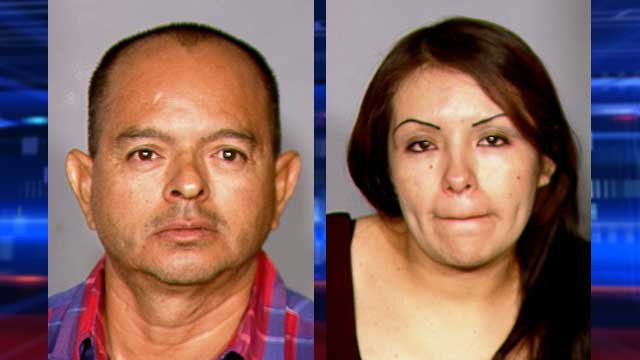 Miguel Barahona, left, and Maricruz Ortiz-Guevara, right. (LVMPD)
