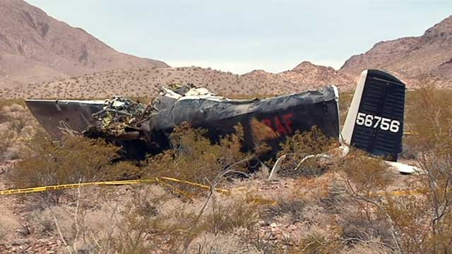 A closer look of the aircraft that crashed on June 23, 2013. (Azenith Smith/FOX5)