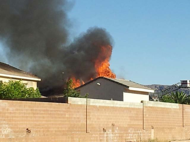 A shot of the fire from FOX5 viewer Jason Blanton.