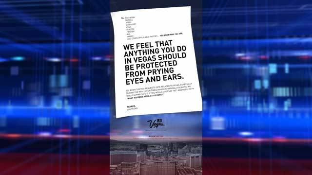 The LVCVA's letter on data surveillance and Las Vegas. (LVCVA)