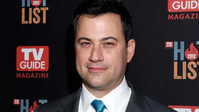 This Nov. 12, 2012 file photo shows Jimmy Kimmel at the TV Guide Magazine's 2012 Hot List Party at Skybar at the Mondrian Hotel in West Hollywood, Calif. (Photo by Todd Williamson/Invision/AP, file)