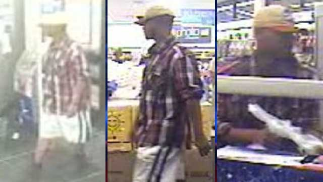 Police released these pictures of a man who they said held up a Las Vegas business on June 5, 2013. (Source: LVMPD)