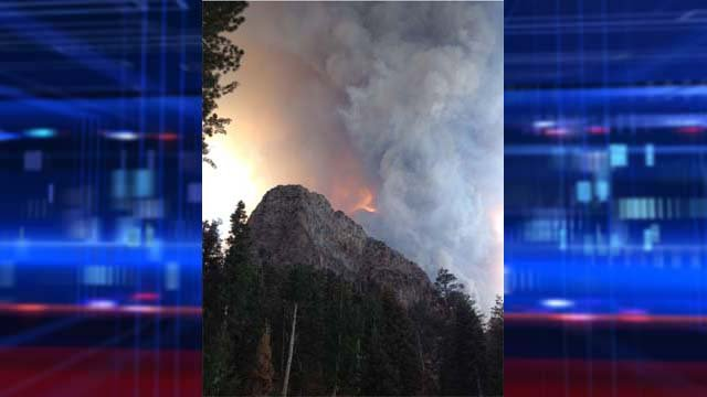 Fire at Mt. Charleston's Cathedral Rock. (Courtesy: Bryan Hollingsworth)