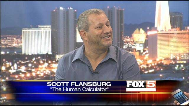 """Human Calculator"" Scott Flansburg was put to the test on FOX5 News This Morning on July 9."