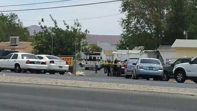 Las Vegas Metro police were sent to investigate a deadly shooting just off N. Las Vegas Boulevard. (Joe Lybarger/FOX5)