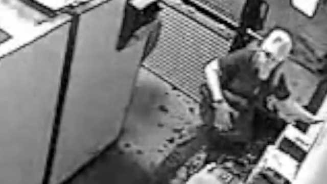 One of the suspects seen in a business break-in. (LVMPD/YouTube.com)