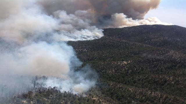 The Carpenter 1 fire has claimed six structures and burned thousands of acres. (Rocky Basin IMT #2)