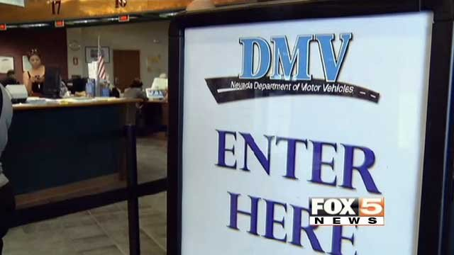 A sign directs visitors to a DMV location in the Las Vegas area in this undated image. (File/FOX5)