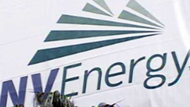 A sign showcases the logo of NV Energy. (File/FOX5)