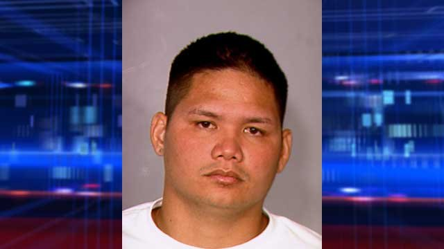 Jonathan Quisano, 26, was charged with murder by child abuse in the death of his 3-year-old son Khayden. (LVMPD)
