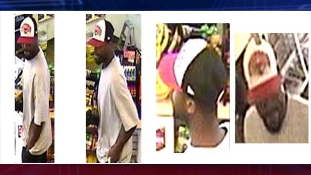 Police say this man robbed a store clerk on June 18 and may be responsible for other robberies in Las Vegas. (LVMPD)