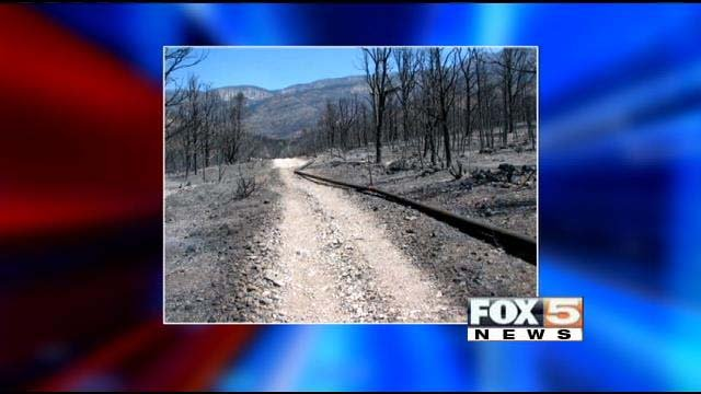 Trout Canyon residents have been without water since the Carpenter 1 fire damaged their waterline. (FOX5)