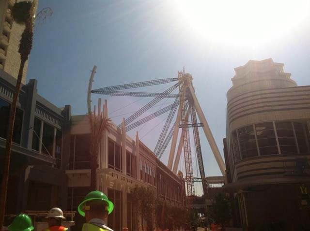 The High Roller observation wheel is coming along. (Azenith Smith/FOX5)